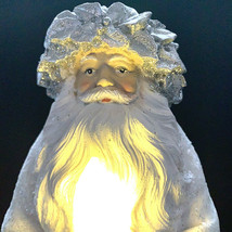 Light Up Santa Claus White Silver 14 Inch Giftcraft Battery Operated - $77.22