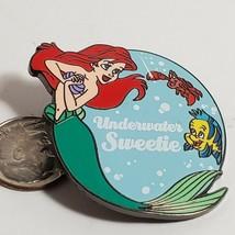 Disney Store Pin Ariel Underwater Sweetie with Flounder Sebastian 2007 PB01 076 - $14.50