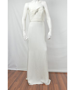 MARCHESA NOTTE NWT WOMENS IVORY WHITE  STRAPLESS BALL GOWN DRESS SIZE: 8 - $284.22