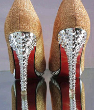 PP438 sweet glitter pumps w alien heels,US Size 4-9.5, champion - $48.80