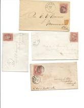 Lot #2 , Civil War Era Postal Covers ( 4 ) GReat stamps Bullseye Cancels... - $45.00