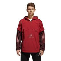 adidas Athletics ID Woven Shell, Noble Maroon/Night Red, X-Large - $84.13