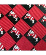 Van Heusen Tie Christmas Silk Necktie Santa Red White  Black - $15.79