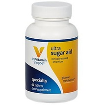 The Vitamin Shoppe Ultra Sugar Aid Supports Glucose Metabolism 60 Tabs - $70.06
