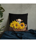 Chihuahua Puppy in Sunflowers Home Decor Basic Throw Pillow - $30.00+