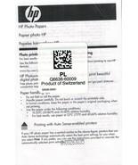 "HP Premium Glossy Borderless Photo Paper 450 Count 4"" X 6"" Brilliant White  - $44.99"