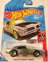 2018 Hot Wheels Custom '67 Pontiac Firebird #5/10 [Zamac] HW Flames Diec... - $5.89