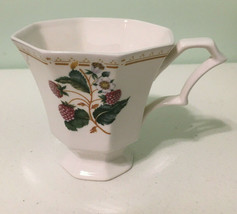 Nikko Classic Collection Made In Japan Berries Octogon Mulberry Coffee Cup - $9.90