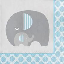Little Peanut Boy  16 Luncheon Napkins Blue Elephant Baby Shower - $5.19