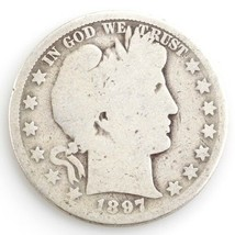 1897-O 50¢ Barber Half Dollar, AG Condition, Obverse is Full Good, Compl... - $89.26
