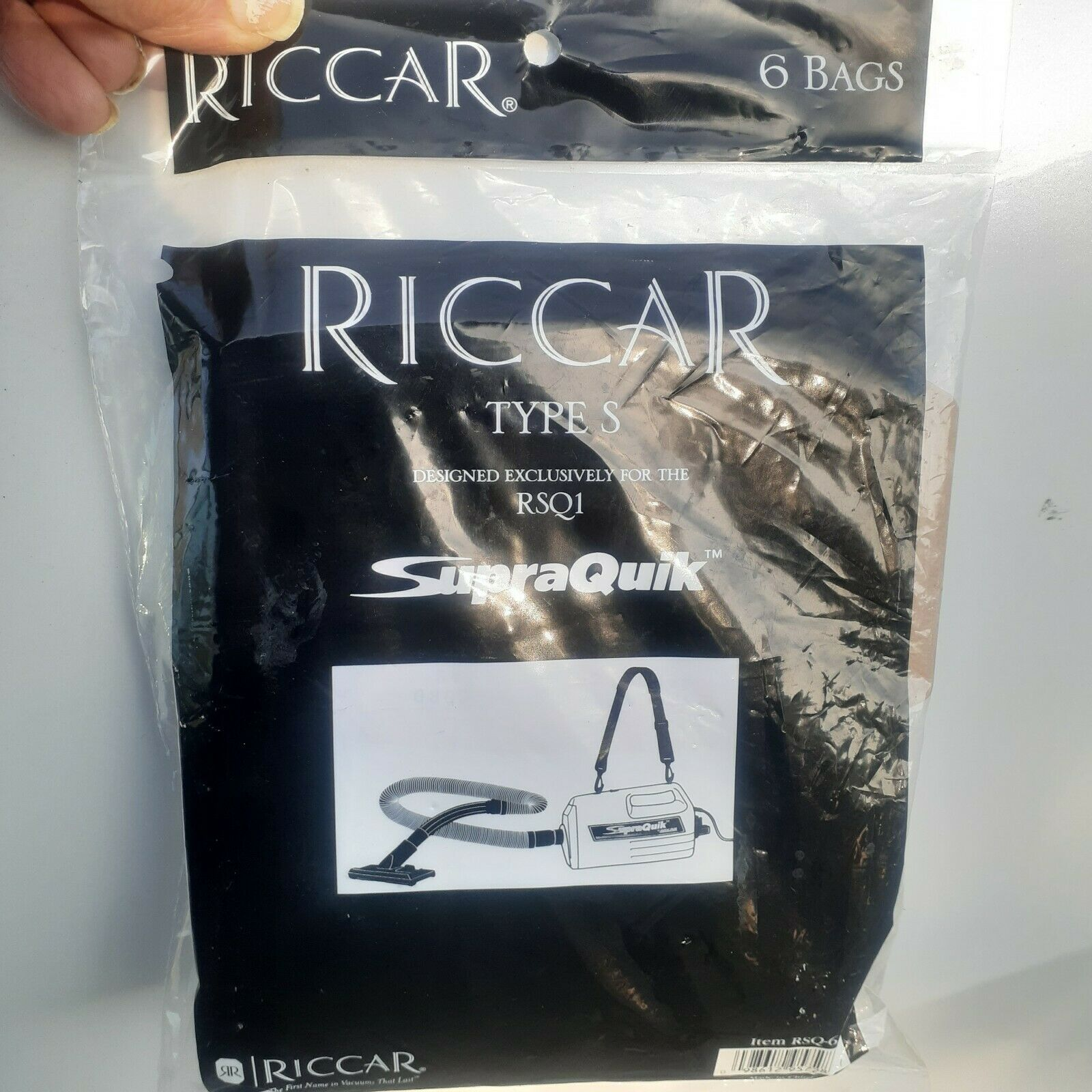Primary image for 6-Pack Genuine Riccar Type S Vacuum Bags RSQ1 Supraquik  RSQ-6