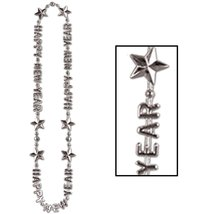 "Club Pack of 12 Happy New Year Silver Beads-of-Expression Necklace 36"" - €27,12 EUR"