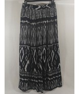 CHAUDRY KC Women's Full Length Boho Peasant Gypsy Skirt Lined Size Sm/Me... - $12.99
