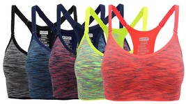 HENNY RUE Women's Comfort Sports Bra Low Support Workout Yoga Bras Pack ... - $51.09