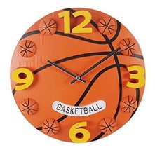 PANDA SUPERSTORE 12 inch Creative Basketball Decorative Wall Clock/Children Quar - $40.35