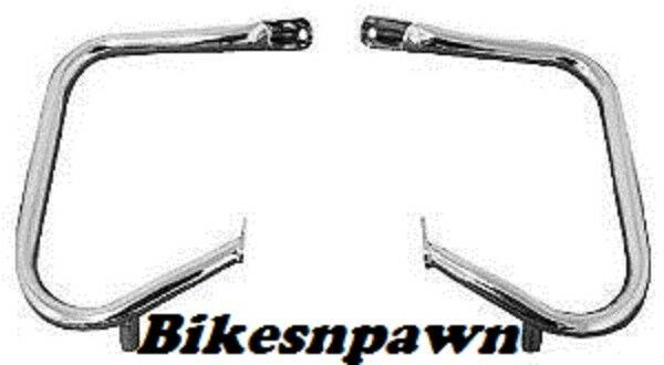 "Bikers Choice Chrome Rear Saddle Bag Guards 1 1/4"" FLT FLHR 97-13 ; FLTR 98-03"