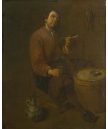 Arent Diepraem - A Peasant seated smoking - 40x50 inch Canvas Wall Art H... - $159.00