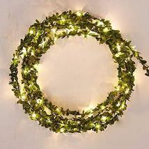 eds-home 3/5/10M Leaf Garland Battery Operate Copper LED Fairy String Li... - $12.82