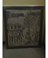 Vintage Art India Indian Bali Indonesia Asia Ceremony Religous Tribal Pa... - $116.10