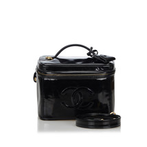 Pre-Loved Chanel Black Patent Leather CC 2 Way Vanity Bag Italy - $1,011.01