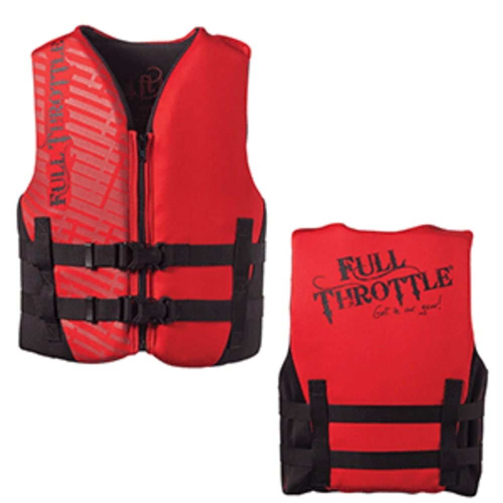 Primary image for Full Throttle Rapid-Dry Life Vest - Youth 50-90lbs - Red/Black