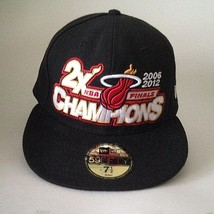 Miami Heat NBA Fitted Cap Hat Finals 2006/2012 Champions New Era NWT Siz... - $23.56