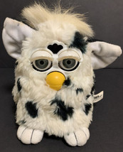 Furby Black White Spots 70-800 Tiger 1998 NOT WORKING For Parts Or Repair - $37.39