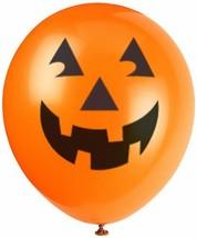 "12"" Latex Orange Pumpkin Halloween Balloons, 6ct - $6.40"