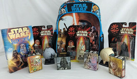Big Star Wars Lot Backpack 1stEd Book Bank Puzzles Action Figures Planets - $47.50
