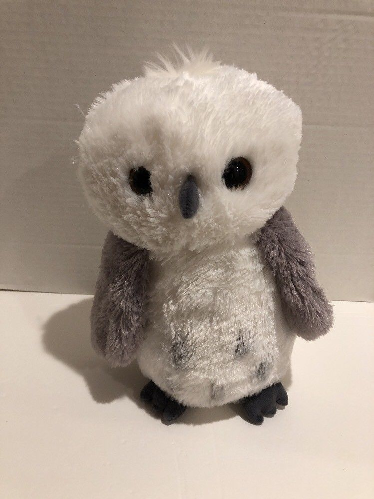 "Primary image for Aurora World Snowy Grey White Plush Owl Destination Nfation Brown Eyed 12"" Cute"