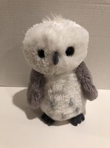 Aurora World Snowy Grey White Plush Owl Destination Nfation Brown Eyed 1... - $10.39
