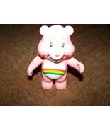 "4"" Cheer Care Bear Rattle PVC Figure 2003 Rare HTF Pink Rainbow Tummy EUC - $12.00"