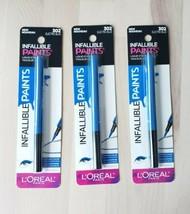 (3) NEW L'Oreal Infallible Paints Liquid Eyeliner Waterproof 302 Electric Blue - $14.85