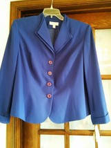 DRESSBARN Ladies Blue 2pc Pant Suit Polyester Blend Lined Sz 20WP NWT - $92.57