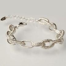 Silber Armband 925 Laminat Gelbgold Pink Rhodium Kreise By Maria Ielpo - $267.24