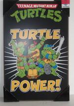 ✰ Rare Teenage Mutant Ninja Turtles Wooden Wall Poster - Original TMNT a... - $39.99