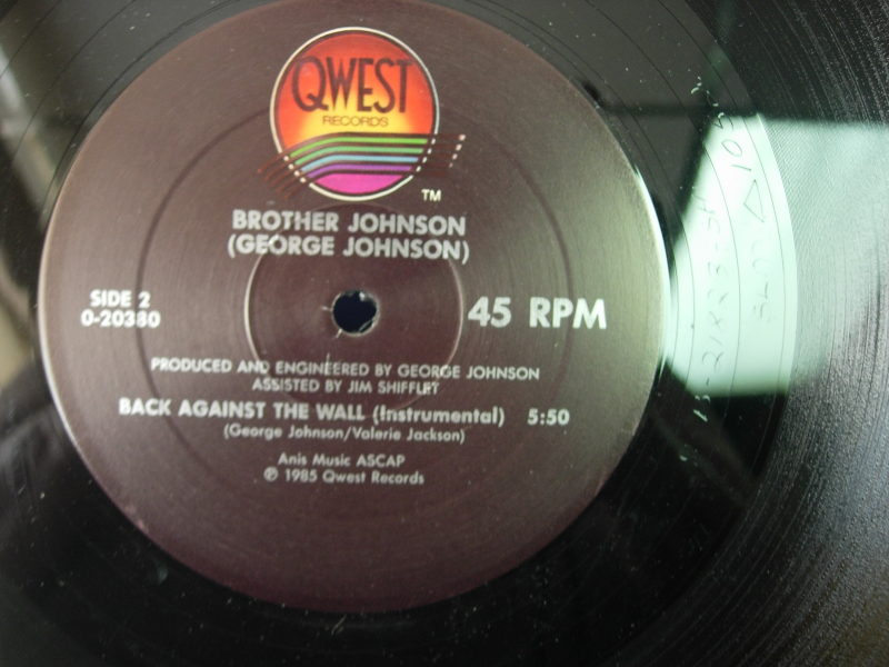 """Brother Johnson - Back Against the Wall - Quest 0-20380 - 12"""" Single - 45RPM"""