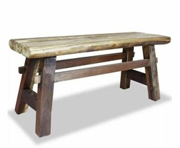 Rustic Dining Bench Vintage Reclaimed Wood Farmhouse Cottage Entryway Ha... - €115,98 EUR