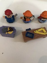 HTF Fisher Price Little People Construction Tools girl boy Figures lot - $14.80