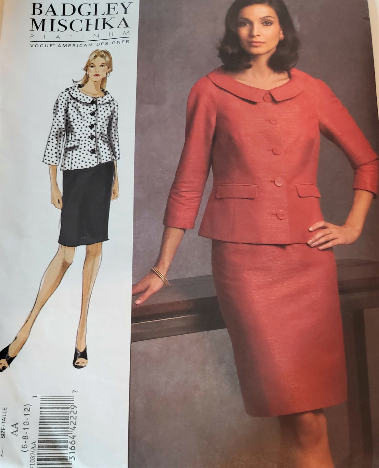 Primary image for Vogue Pattern 1037 Badgley Mischka, Jacket & Skirt Ensemble Sewing Pattern