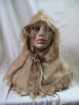 Creepy Burlap Cowl Hood Scarecrow Ghoul Haunted Decoy Creature Medieval ... - $12.97