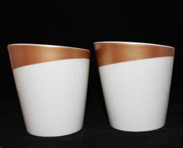 Starbucks Coffee 2012 New Bone China White Gold 2 Coffee Tea Mug Cups  8... - $34.14
