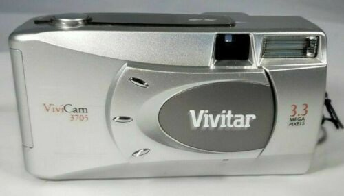 Primary image for Vivitar ViviCam 3705 3.3MP Digital Camera - Silver - Manuals with Box - CD