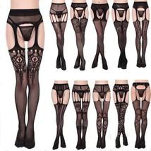 MAX Sexy Black Fishnet Jacquard Stockings Pantyhose Tights Adult Women P... - $39.95