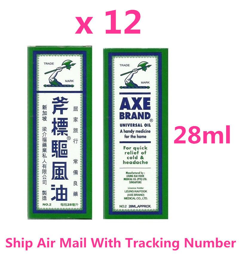 Axe Brand Universal Medicated Oil 28ML Aches Cold Headache Muscular Pain x 12 - $62.40