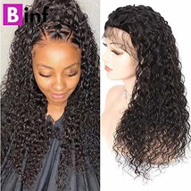 BINF Hair Lace Front Wigs Human Hair with Baby Hair Water Wave Lace Fron... - $87.67