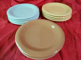 Beautiful GIBSON China Assorted Color Edition- Set 11 BREAD-SALAD-DESSER... - $64.93