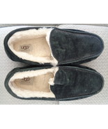 UGG Ascot Moccasin Slippers Black Suede Sheepskin 5775 Women's Size 9 - $33.99