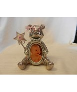 Silver Tone Metal Teddy Bear Baby Picture Frame Holder from Things Remem... - $44.55