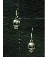 Skull Dangly Rockabilly Gothabilly Earrings made with Nickel Free hooks - $5.40